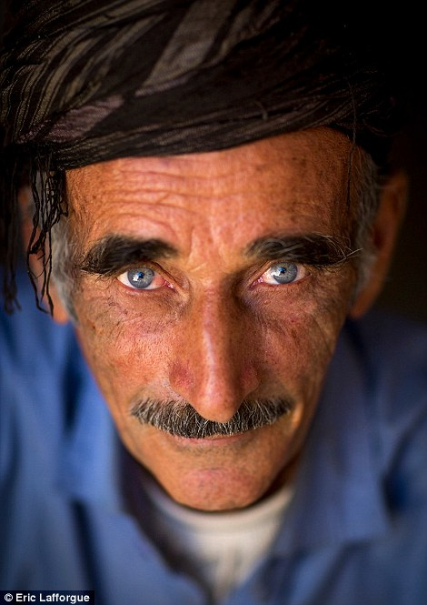 An older man in the camp