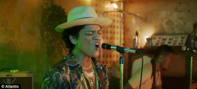 Racy lyrics: 'You and me baby making love like gorillas,' Bruno sings over and over again