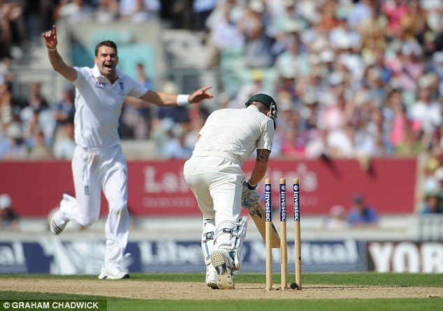 Destroyer: Anderson took 22 wickets in the 2013 Ashes series, including 10 scalps in the first Test