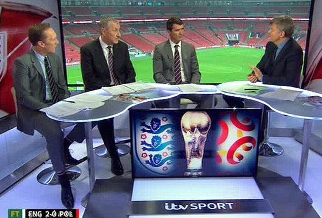 England fan: Terry Butcher turned out to be the star of the show