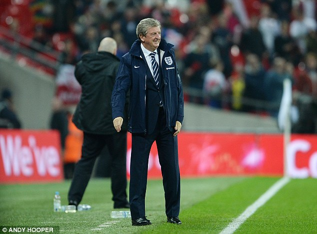 Happy gaffer: Roy Hodgson has guided his England team to World Cup 2014