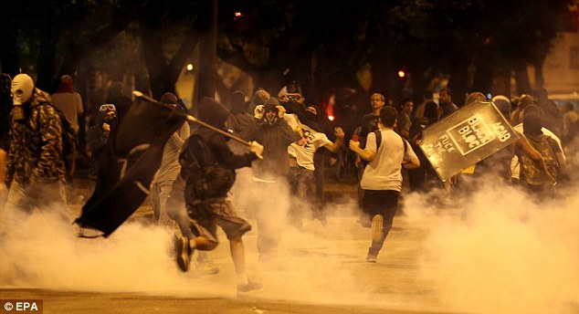 I predict a riot: Demonstrators clash with police