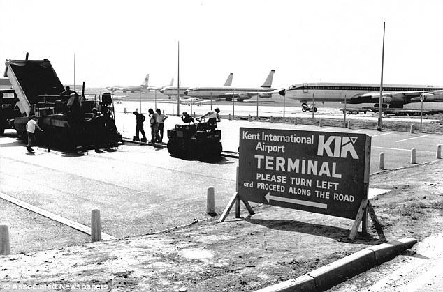 Historic: Manston Airport was later renamed Kent's International Airport and is pictured here in May 1989