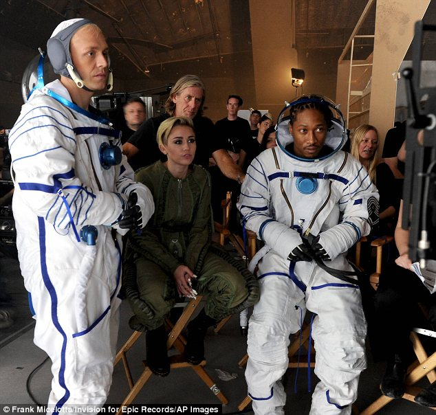 Astronaut Kid: Future, whose nickname is Astronaut Kid, rather aptly plays an astronaut in the music video alongside Mr Hudson
