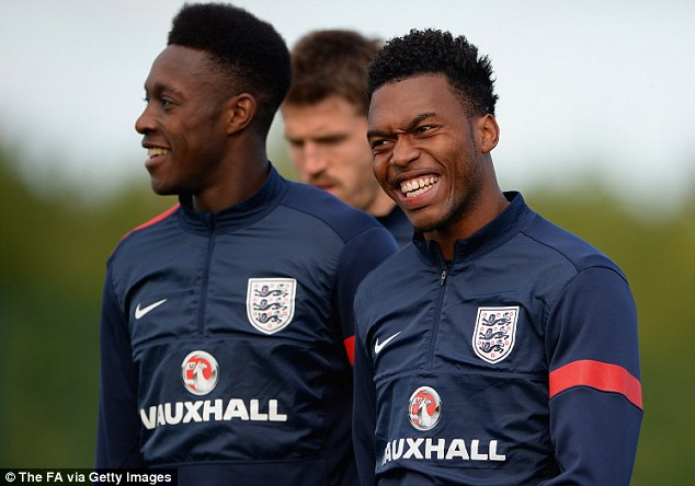 Firepower: Sturridge (left) and Welbeck are a big part of England's attacking options