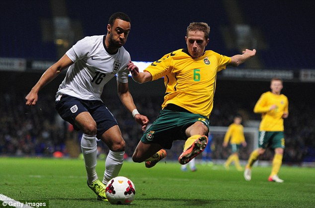 Talent: Nathan Redmond has an outside chance of making it to Brazil