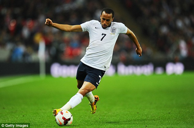 New man in town: Townsend's first two performances in an England shirt have been more than promising