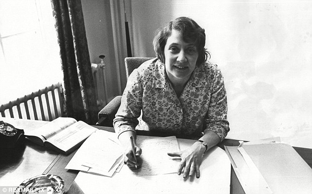 Rising star: In her role as the new parliamentary secretary to the Ministry of Labour in 1966