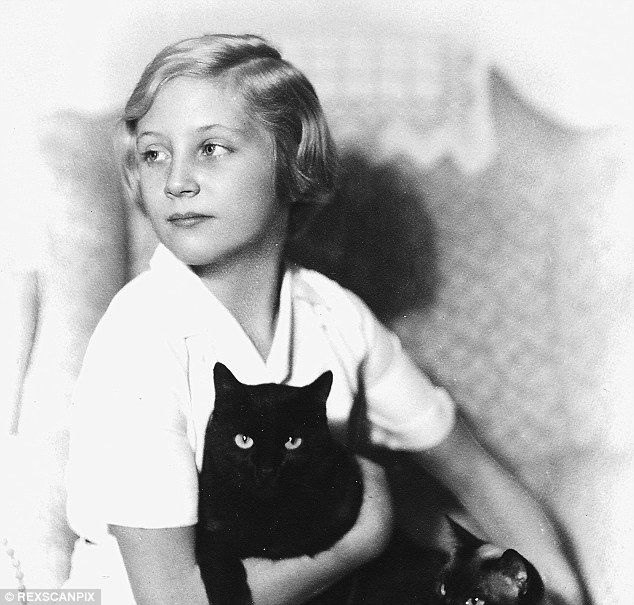 Blonde, blue-eyed beauty: Shirley, aged 12 here, would go on to be the belle of Oxford University