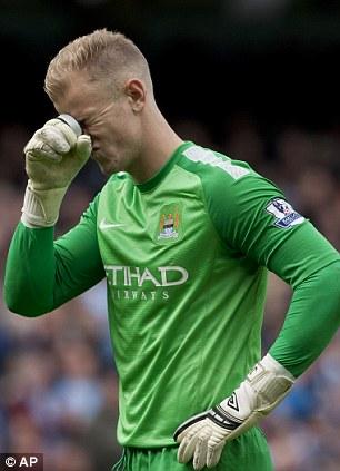 Manchester City's goalkeeper Joe Hart
