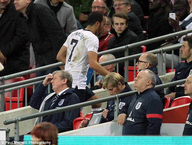 Space joke: Hodgson told the monkey tale to try and get Chris Smalling to pass to Andros Townsend