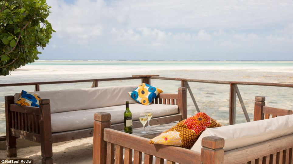 The Rock Restaurant also has an outside dining area so the fresh sea air can be enjoyed