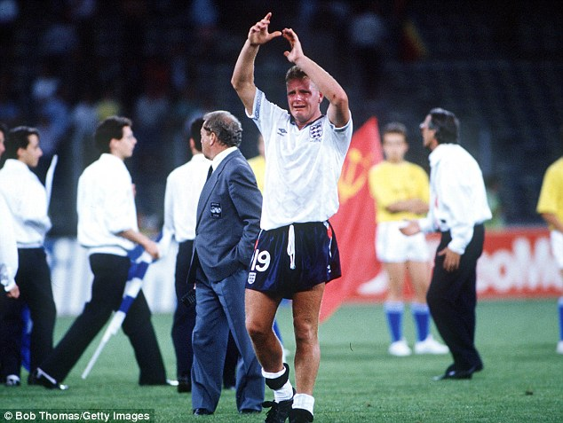Tears and cheers: Who can forget Paul Gascoigne crying after the semi-finals of Italia 90 - when England lost to West Germany - or the late winner from David Platt against Belgium