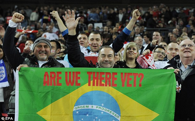 Here we go: England fans can look forward to a summer holiday in South America after Tuesday's win