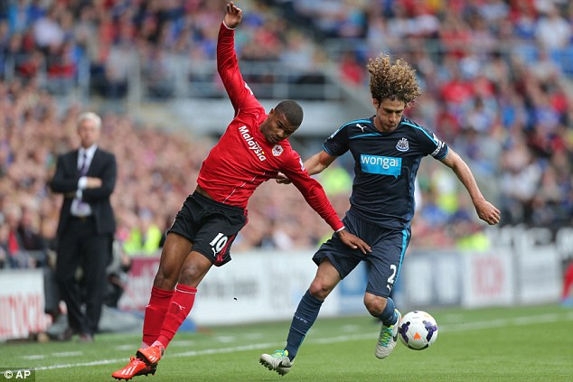 Doubt: Fabricio Coloccini (right) has been struggling with injury but Newcastle need their captain