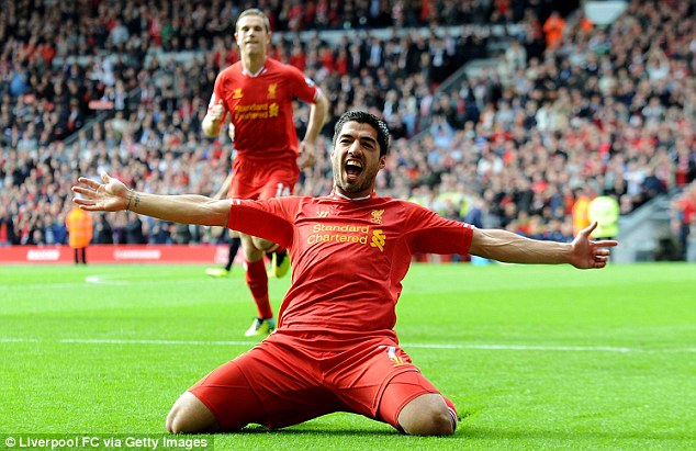 More of this: Liverpool will want to see Suarez in this pose on the turf, celebrating a goal