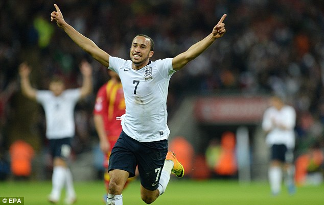 Instant impact: Andros Townsend announced himself on the global stage with a goal on his England debut