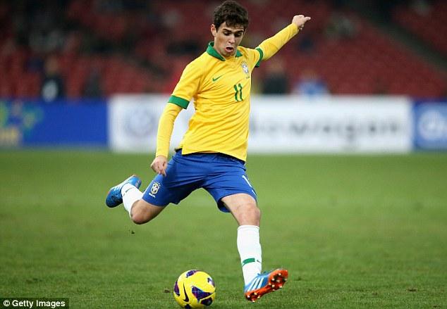 Oscar winner: The Chelsea midfielder scored for Brazil during the international break