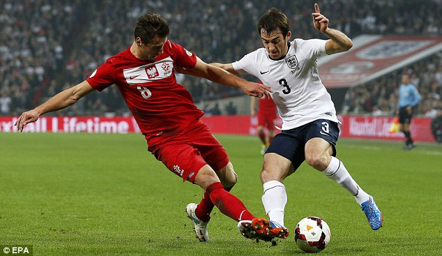 Main man: Leighton Baines will return for Everton after playing a key role for England