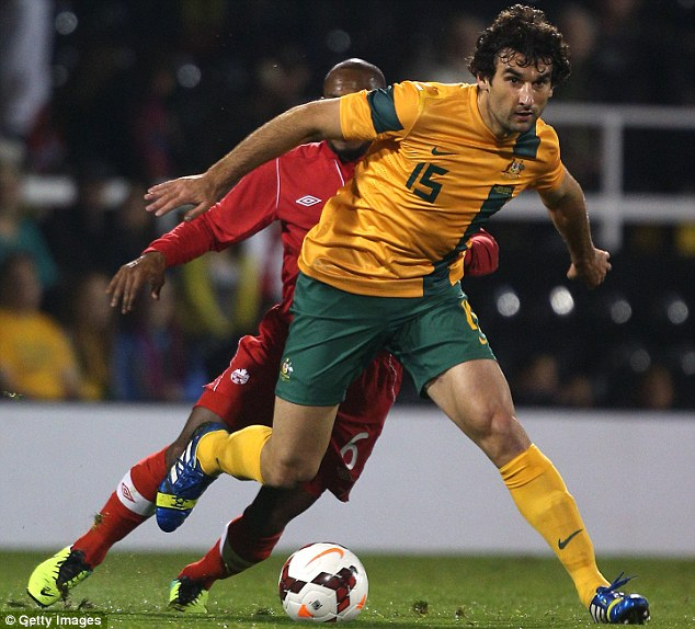 No worries: Mile Jedinak played two games for Australia but is fit to lead struggling Crystal Palace