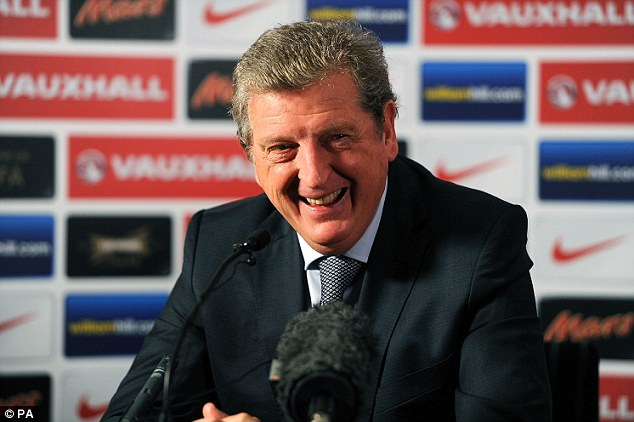 Team-talk: England manager Roy Hodgson made a joke referring to a 'monkey' during half-time