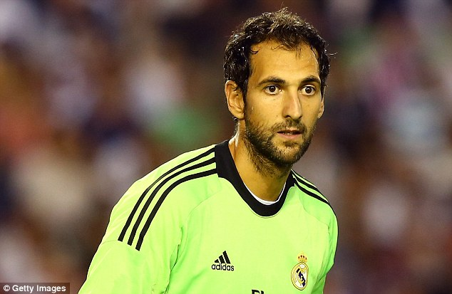 Top form: Diego Lopez has proved difficult for Casillas to displace in the Real Madrid goal