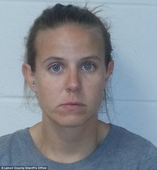 Jennifer Mallory Sinclair (pictured) was arrested after police were tipped off about the alleged affair in North Carolina, she appeared in court on Monday