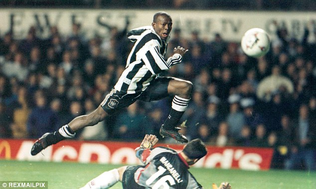 Cult figure: Faustino Asprilla spent two years at Newcastle United in the 1990s