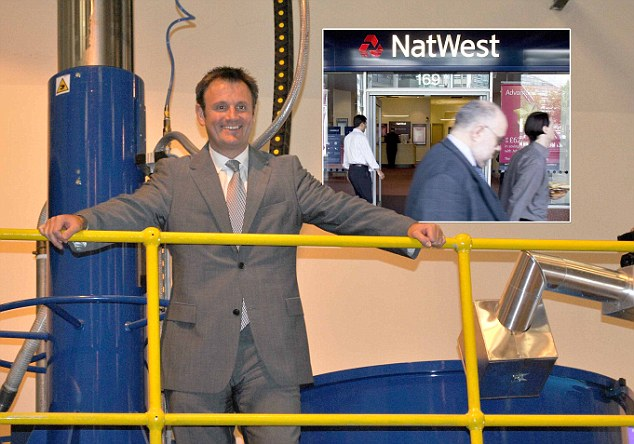 Huge losses: Jonathan Kemp, director of AEV Ltd, fears the company will go out of business after NatWest refused to refund for fraud