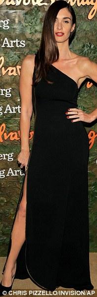 Glamming up: Paz Vega sported a one shouldered dress