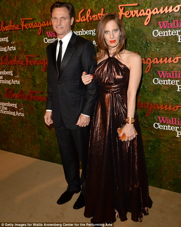 Show of support: Scandal's Tony Goldwyn and his wife Liz looked excited to be at the star-studded gala