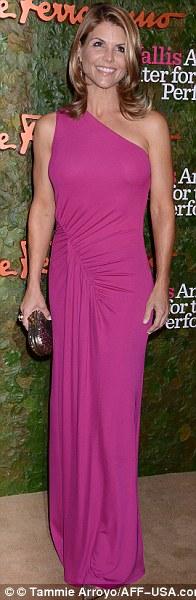 Glamming up: Paz Vega sported a one shouldered dress, Lori Loughlin wore purple