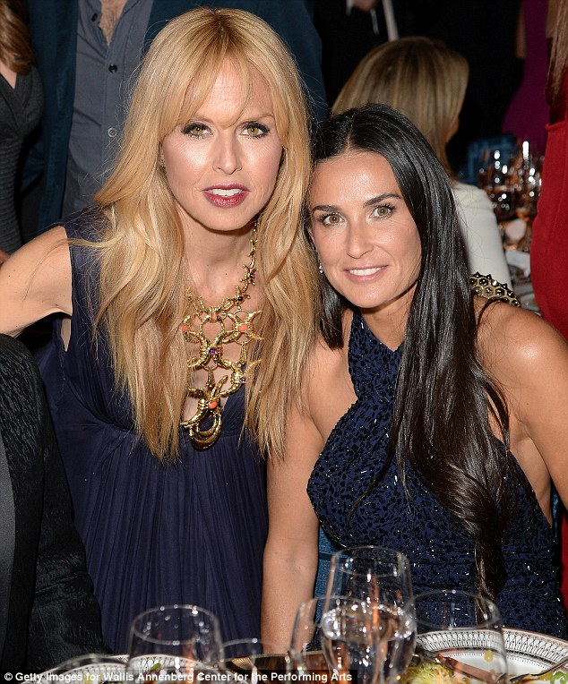Style maverns: Rachel Zoe and Demi happily posed for a photograph over dinner