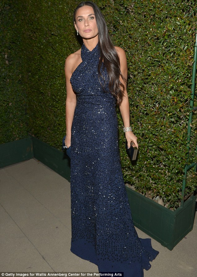Glittering: Demi Moore exuded grace and glamour at the Wallis Annenberg Center for the Performing Arts Inaugural Gala presented by Salvatore Ferragamo on Thursday in Beverly Hills