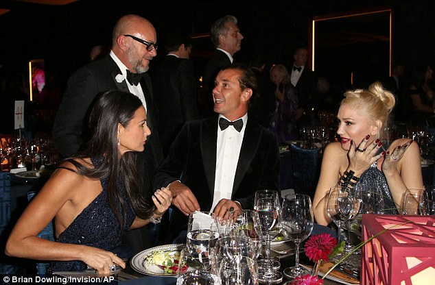 From left, actress Demi Moore and musicians Gavin Rossdale and Gwen Stefani attend the Wallis Annenberg Center for the Performing Arts