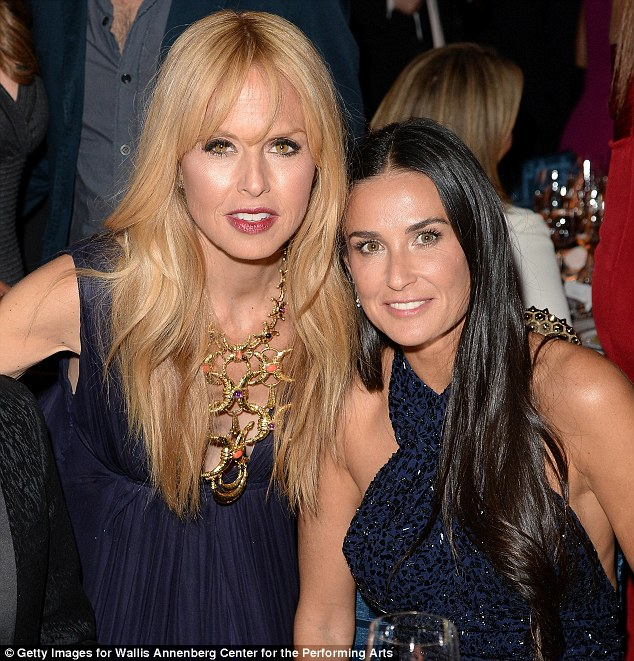 Fashionable friends: Demi caught up with stylish pal and reality star Rachel Zoe as the VIP dinner