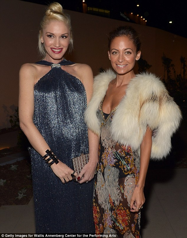 Hanging out: Reality star Nicole chatted to rocker Gwen Stefani  at the opening of the Wallis Annenberg Center for the Performing Arts