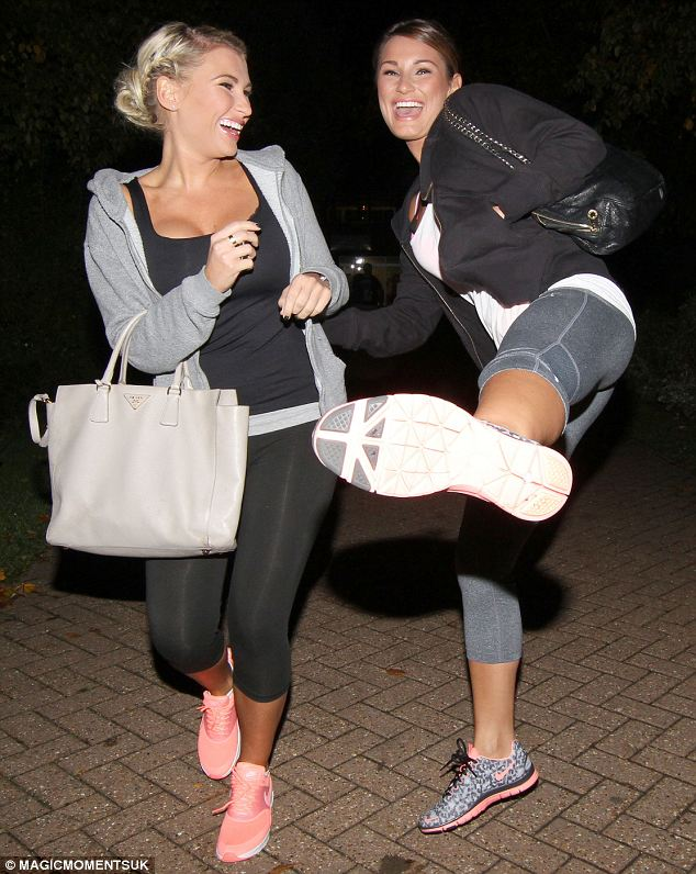 More fun: TOWIE's Sam and Billie Faiers were spotted larking around as they left a Karate class in Essex
