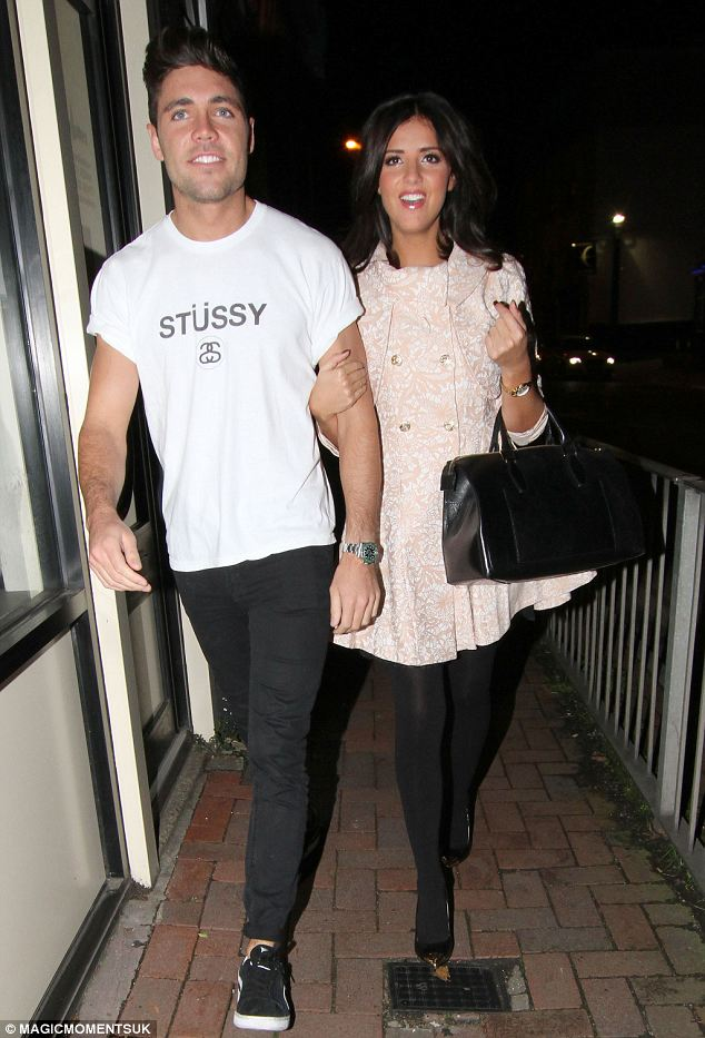Romance: TOWIE's Lucy Mecklenburgh and Tom Pearce head out on a pizza date