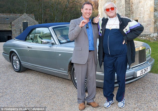 Claims: Former policeman Mick Starkey, left, was apparently close to Jimmy Savile and frequently visited his home