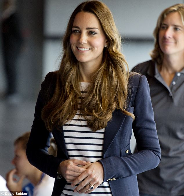 Kate declined a game of badminton earlier in the day