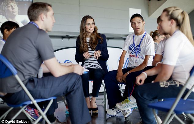 The Duchess also sat in on a mentoring session and asked the young players: 'Does it help to compare each other's sports and stuff. This must be a real opportunity to help each other,'