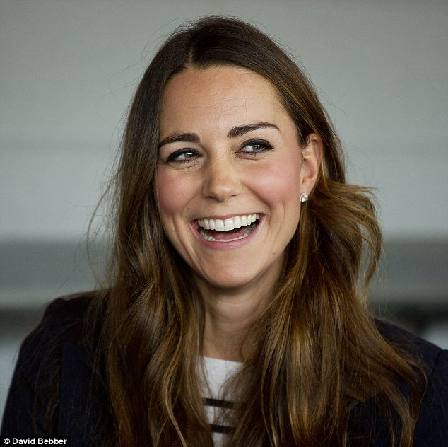 Kate finished off her sporty style with a pair of £645 diamond and white topaz earrings