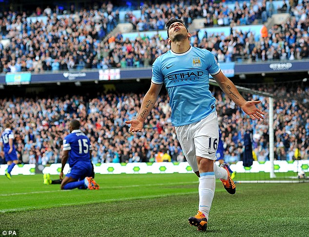 Finding their feet: Pellegrini led City to a 3-1 win over Everton before the international break
