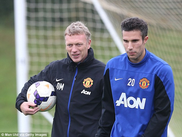 Keep going: Moyes will hope Van Persie continues the sparkling form he showed for Holland in midweek
