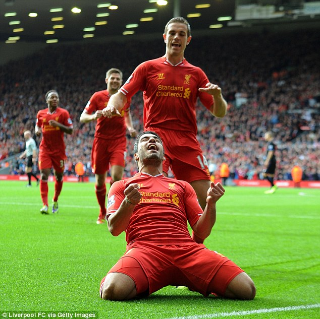 Getting the job done: By contrast, all but one of Liverpool's goals this season have come before half-time
