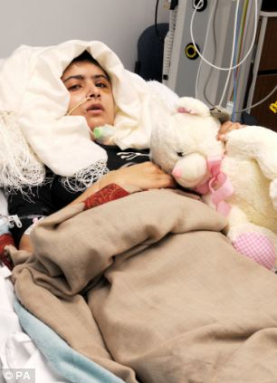 Malala was treated at Queen Elizabeth Hospital, in Birmingham, and has now settled in the city with her family