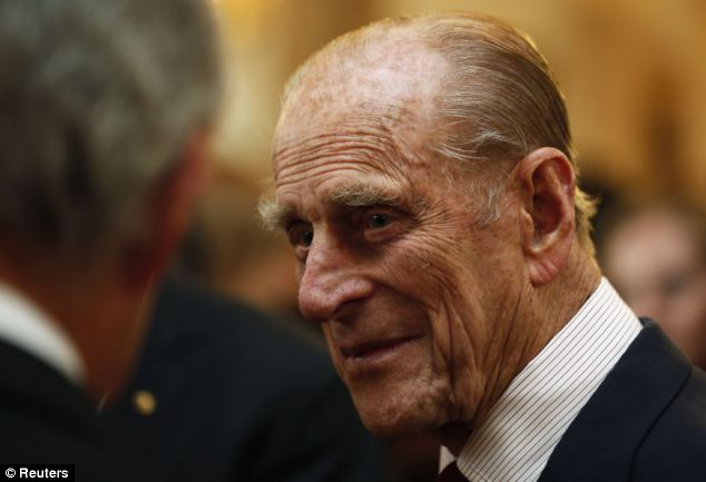 Reception: Prince Philip attended a reception after the renaming ceremony for at the Old Royal Naval College in Greenwich