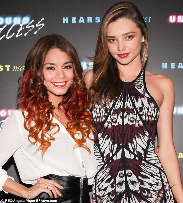 She's already befriending movie stars: The beauty with Vanessa Hudgens at the Unbound Access event on Tuesday