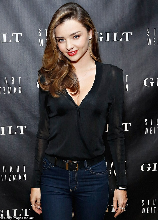 Headed to a cineplex near you? Model Miranda was overheard at the Stuart Weitzman event on Wednesday saying she wants an acting agent